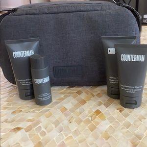 BeautyCounter Counterman Travel Set & Case (NWOT)